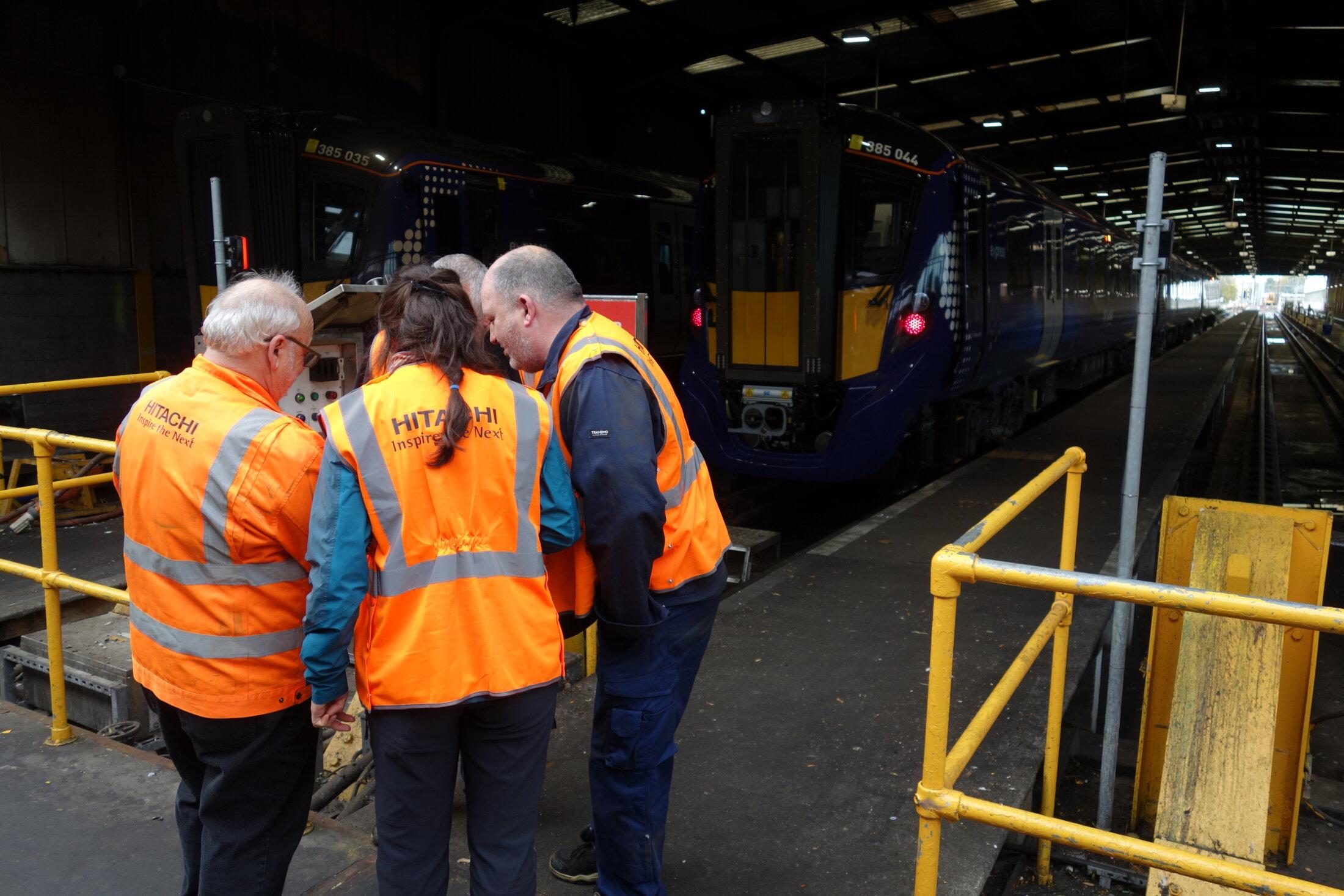 Talking Jabberwocky - Craigentinny rail depot.